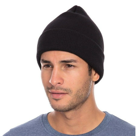 Casaba Warm Winter Beanies Hat Cap for Men Women Toboggan Cuffed Knit Slouch](Gangster Beanies)