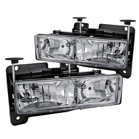 Spec-D Tuning 1988-1998 Chevy Gmc C10 Ck 1500/2500/3500 Headlights 1988 1989 1990 1991 1992 1993 1995 1996 1997 1998 (Left + Right) 1995 Gmc K1500 Headlight
