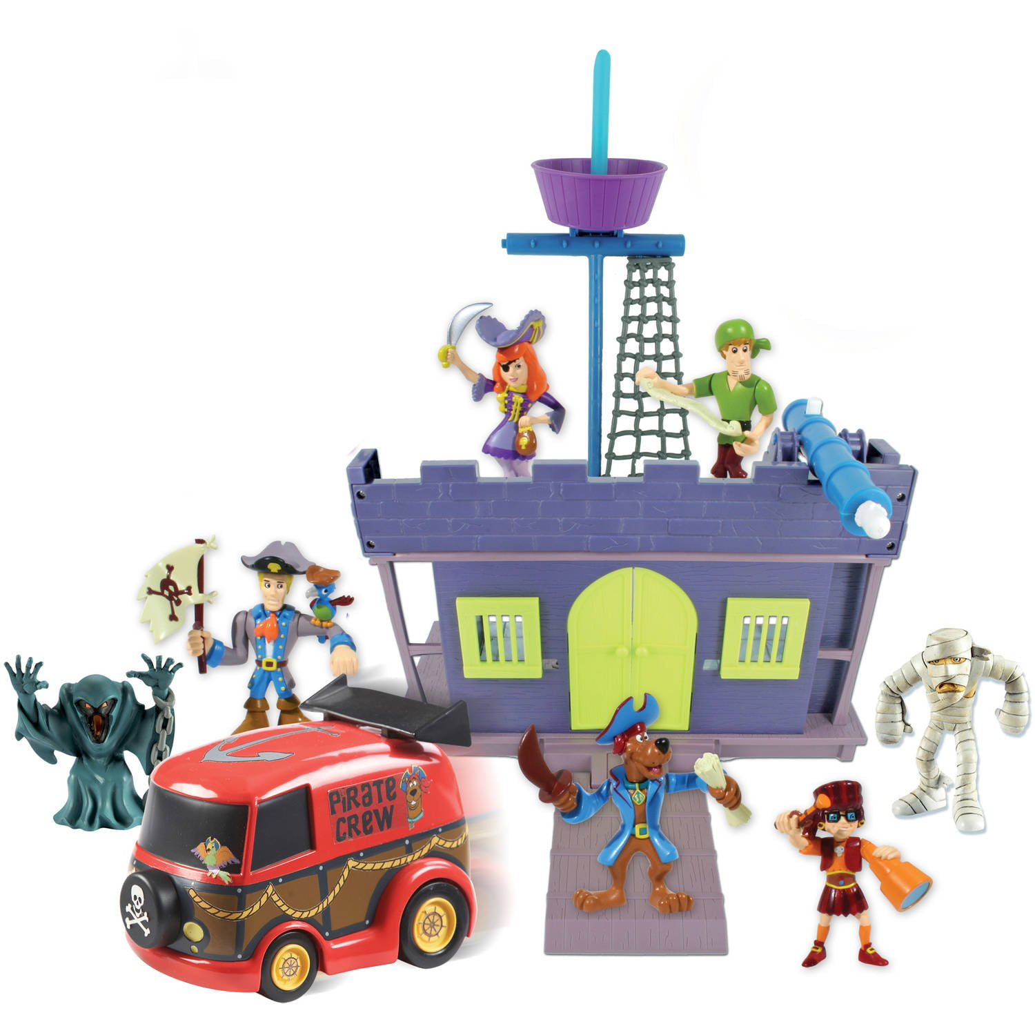 Scooby Pirate Fort And Figure, 7 Pack   Walmart.com