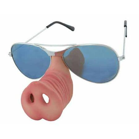 Officer Doughnut McPiggly Sunglasses with Pig Nose (Pig With Sunglasses)