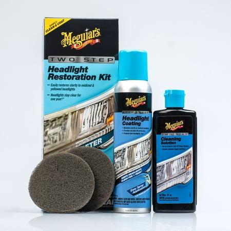 Meguiar's G2970 Meguiar's Two Step Headlight Restoration Kit, 4 fl. oz, 1 Pack Agb Restoration 3 Light