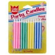 Cake Mate 24 Ct. Pencil Party Candles