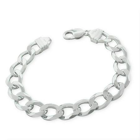 Sterling Silver Italian 12mm Cuban Curb Link ITProLux Solid 925 Bracelet Chain 9