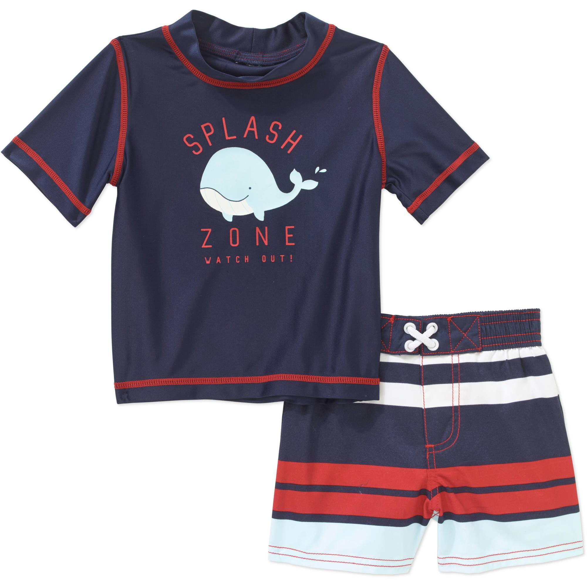 Child of Mine by Carter s Baby Boy 2 Piece Rash Guard Swim Set
