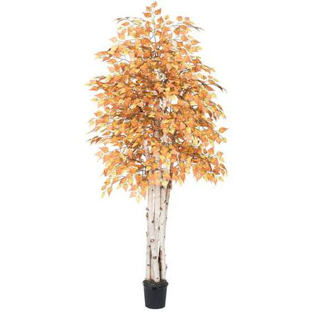 Vickerman 6 ft. Golden Birch Executive Silk Tree ()