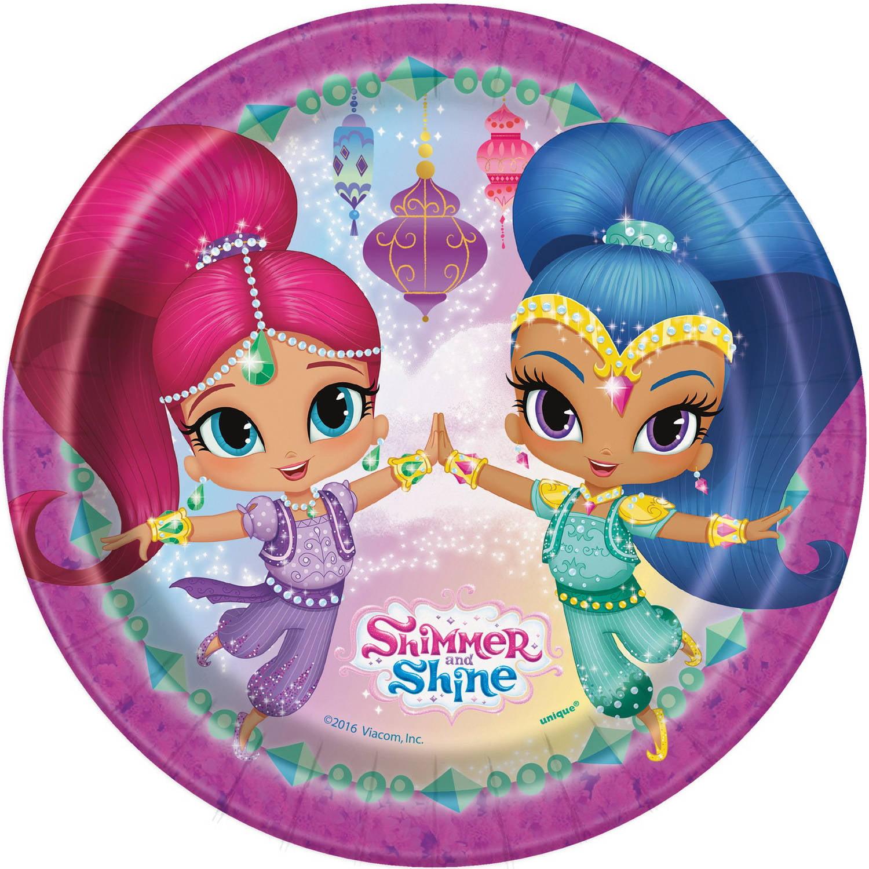Shimmer Shine 9 Round Plates 8 Pack Walmartcom