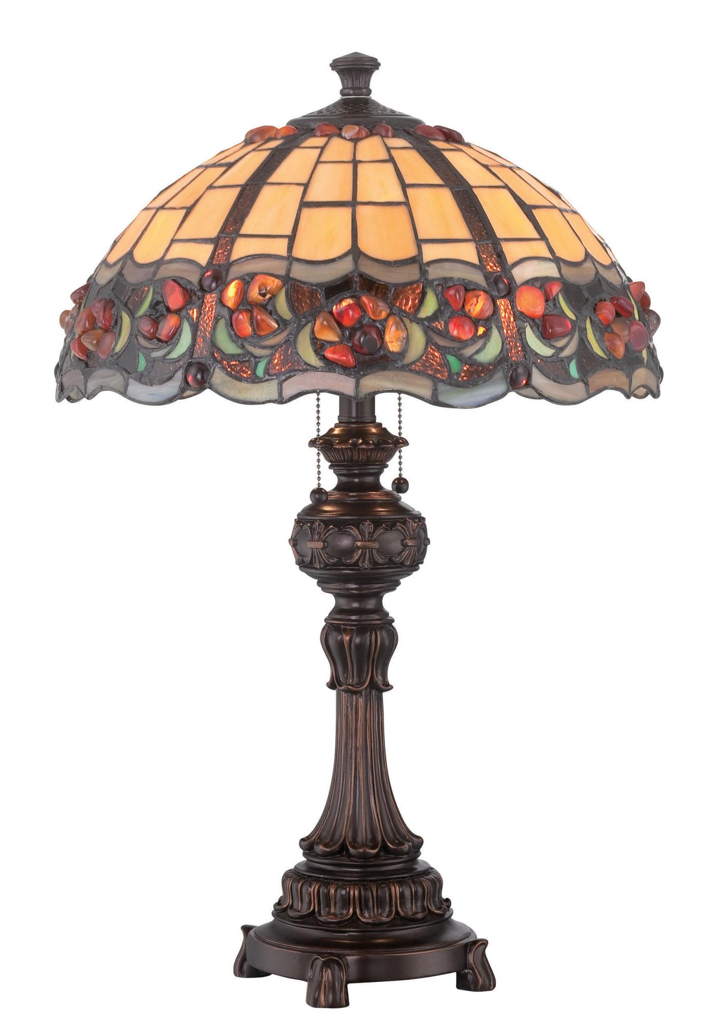 Deana 2 Light Table Lamp  - Dark Bronze
