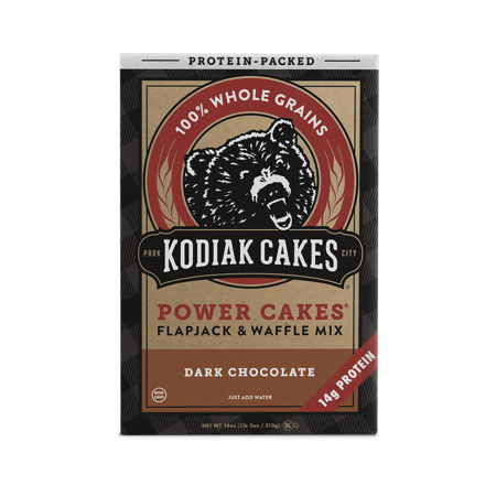 Kodiak Cakes Power Cakes Dark Chocolate Pancake and Waffle Mix 18 Oz