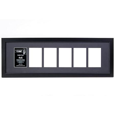 Creative Letter Art 10x32bk B 6 Opening Black Picture Frame Holds