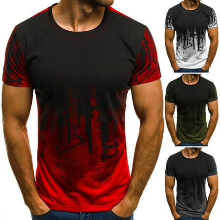 Fashion Mens Short Sleeve T Shirt Slim Fit Casual Blouse Tops Summer Clothing Muscle (Best Fashion Clothes For Men)