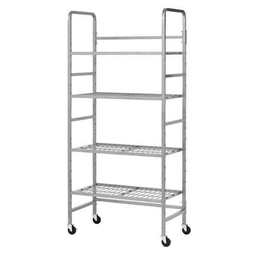 BUDDY PRODUCTS 5418-3 Storage Rack, Nonlocking, Wire\/Tubing, Slvr