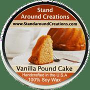 VANILLA POUND CAKE TIN 8-OZ. ALL NATURAL SOY CANDLE