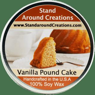 VANILLA POUND CAKE TIN 8-OZ. ALL NATURAL SOY