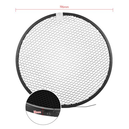 210mm Elinchrom Mount Reflector Diffuser Shade Lamp Shade with 10° 30° 50° Honeycomb Grids for Elinchrom Mount Studio Strobe Flash Light Speedlite Portrait and Commercial Photography Accessory - image 5 de 7