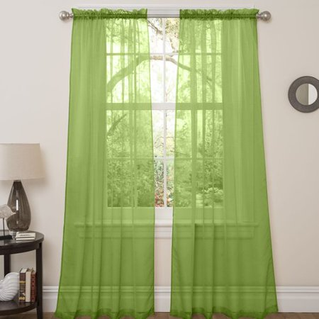 Bay Isle Home Continuum Window Treatment Solid Semi-Sheer Rod Pocket Curtain Panels (Set of 2)