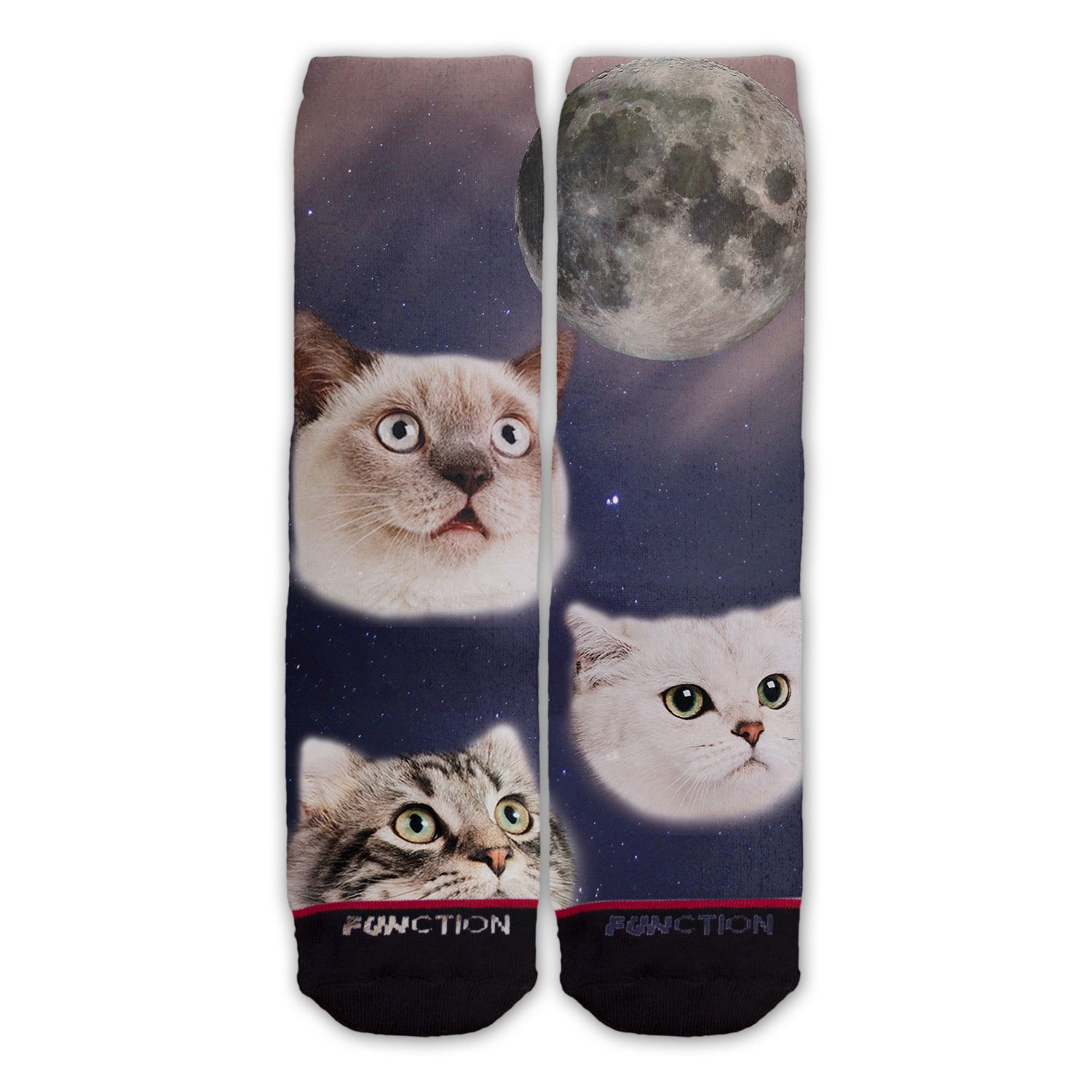 Function - Three Cats Moon Fashion Sock