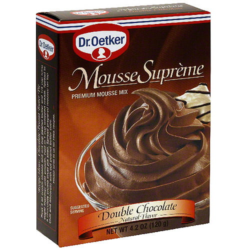 Dr. Oetker Double Chocolate Supreme Mousse, 4.2 oz (Pack of 12) by Generic