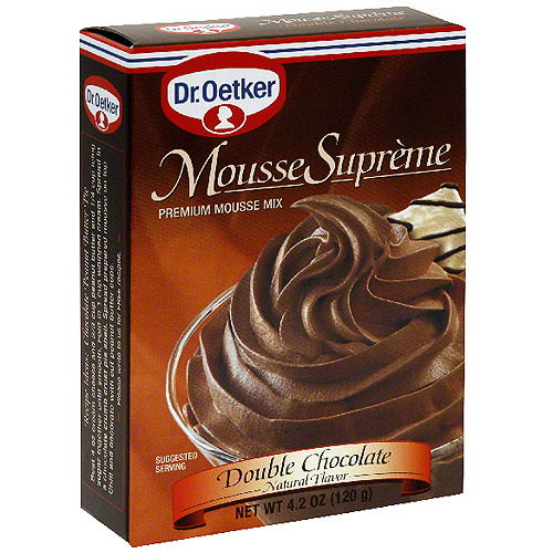 Dr. Oetker Double Chocolate Supreme Mousse, 4.2 oz (Pack of 12)