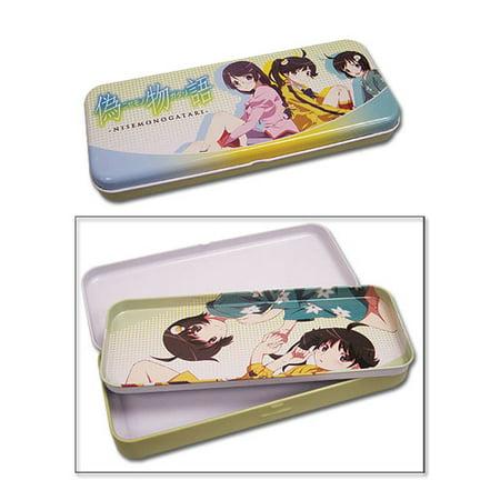 Pencil Case - Nisemonogatari - New Araragi Sister & Tsubasa Tin Box ge49003 - image 1 de 1