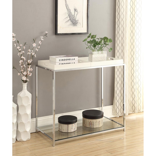 Convenience Concepts Palm Beach Console Table with Trays, Multiple Colors