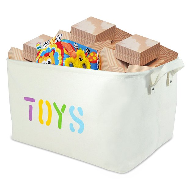 Canvas 'TOYS' Storage Bin 20'Long, large enough for Toy Storage