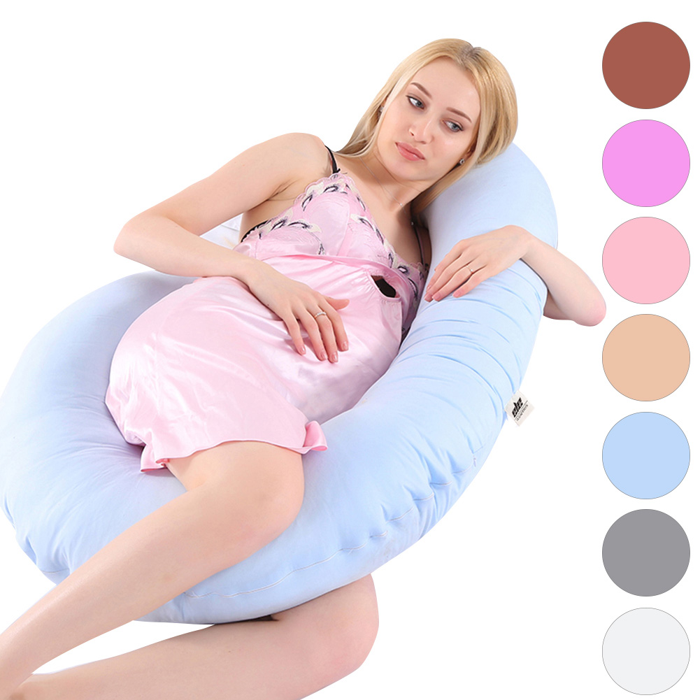 "Full Body Pregnancy Pillow, C-shaped Materniy Pillow for Sleeping ,with Removable Cover (51"" x 27"" x 8"")"