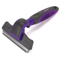 Pet Deshedding Tool By Hertzko - Drastically Reduces Shedding - Great Grooming Tool for Small Medium & Large Dogs & Cats of all Hair Types