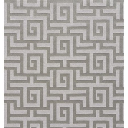 Designer Fabrics K0270D 54 in. Wide Silver And Grey Shiny Geometric Two Toned Maze Silk Satin Upholstery