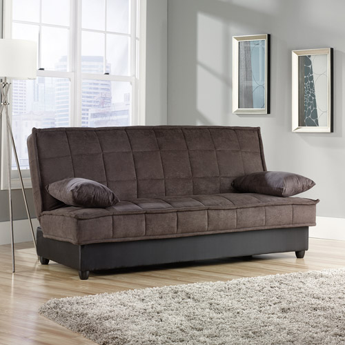 sauder bayshore convertible sofa chocolate