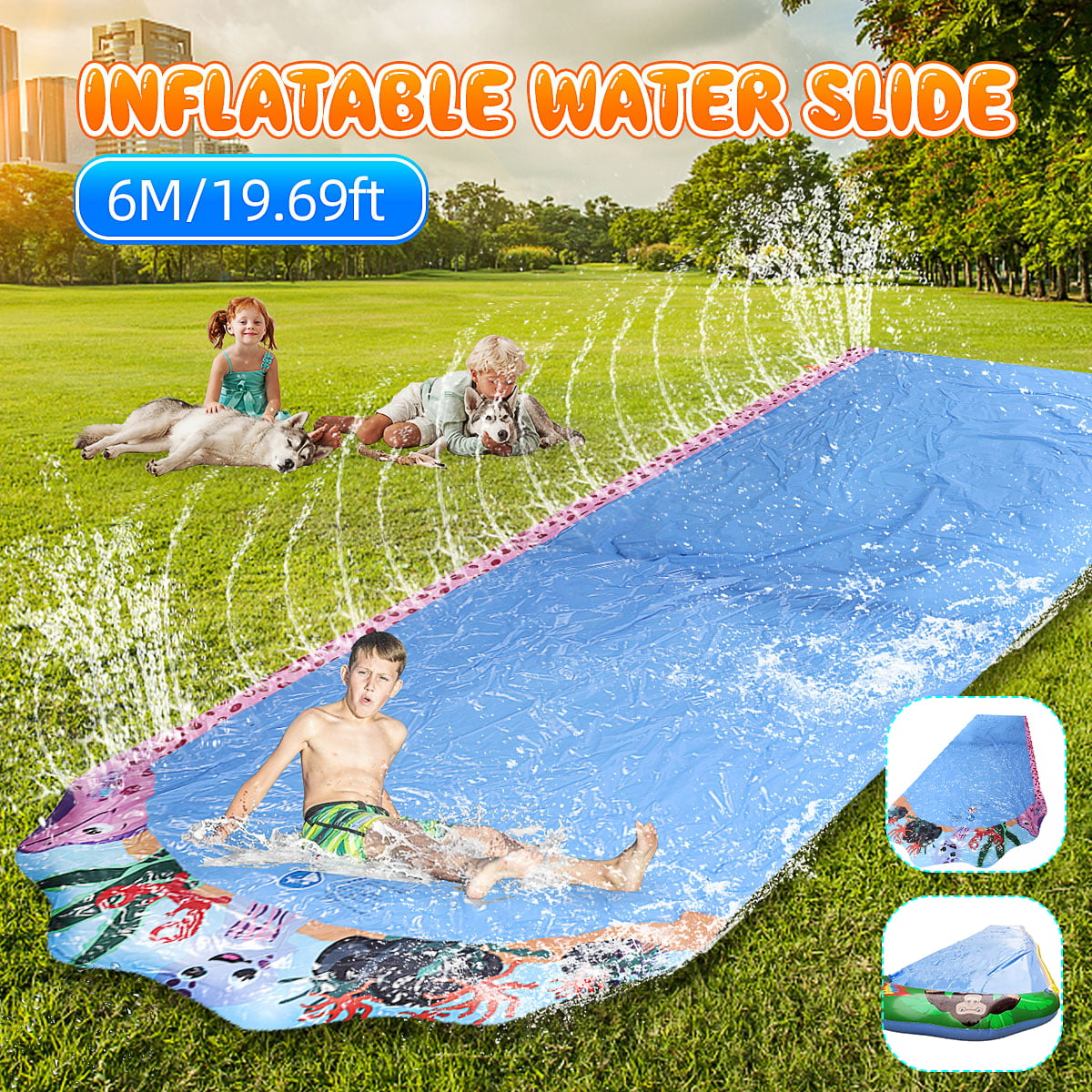19.69ft 6M Outdoor Water Slide ,The Summer Water Slide ...
