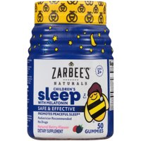 Zarbee's Naturals Children's Sleep with Melatonin, Natural Berry, 50 Gummies