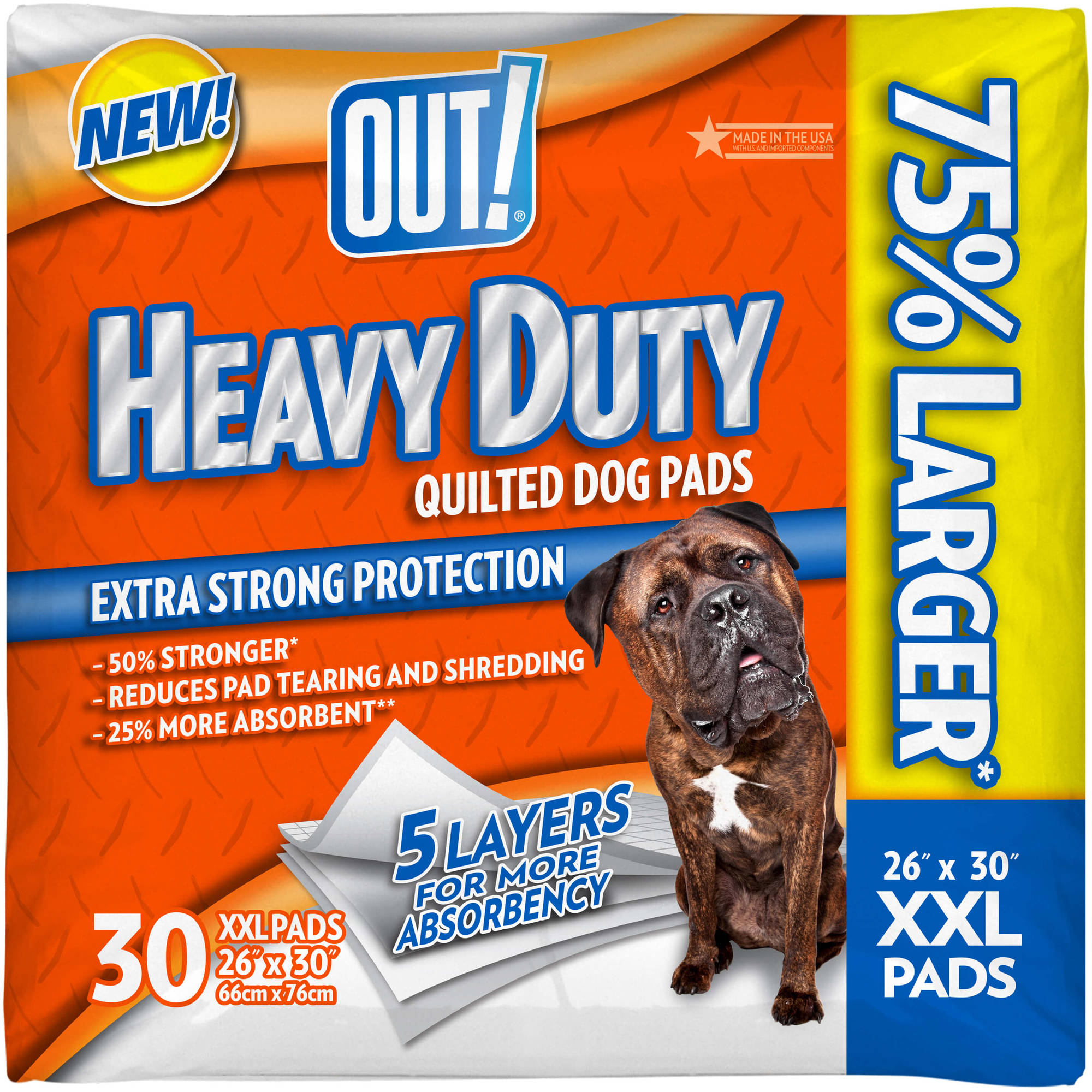 OUT! Heavy-Duty XXL Quilted Dog Pads, 30ct