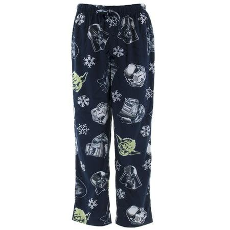 Star Wars Men's Navy Sueded Fleece Pajama Pants