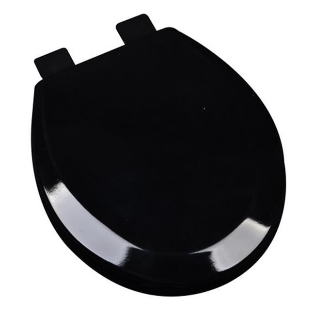 Plumbing Technologies 1F1R5-00 Premium Molded Round Wood Toilet Seat, White