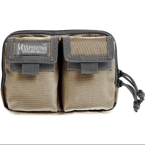 Maxpedition Hook-and-Loop Double Pocket Insert (Khaki-Foliage) Multi-Colored