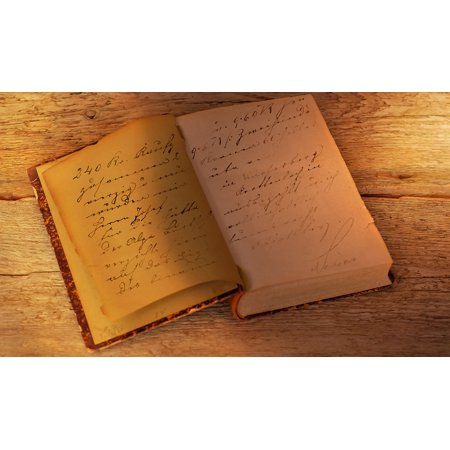 Canvas Print Old Script Book Pages Antique Book Old Font Stretched Canvas 10 x