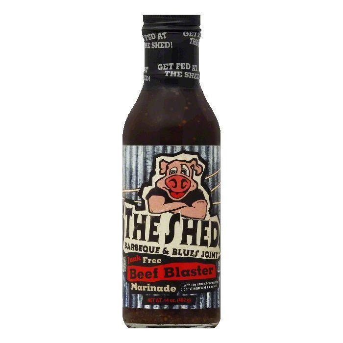 The Shed BBQ Beef Blaster Marinade, 14 OZ (Pack of 6)
