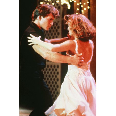 Patrick Swayze and Jennifer Grey in Dirty Dancing classic dancing scene 24x36 (Dirty Dancing Patrick Swayze And Jennifer Grey Relationship)