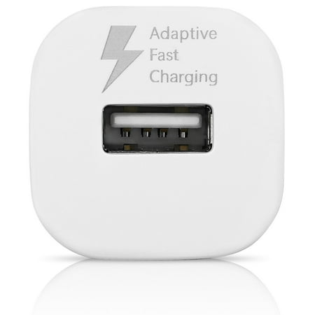 OEM Adaptive Fast Charger Compatible with Samsung Galaxy J5 (2016) Cell Phones [Car Charger + 5 FT Micro USB Cable] - AFC uses Dual voltages Compatible with up to 50% Faster Charging! - White - image 6 of 9