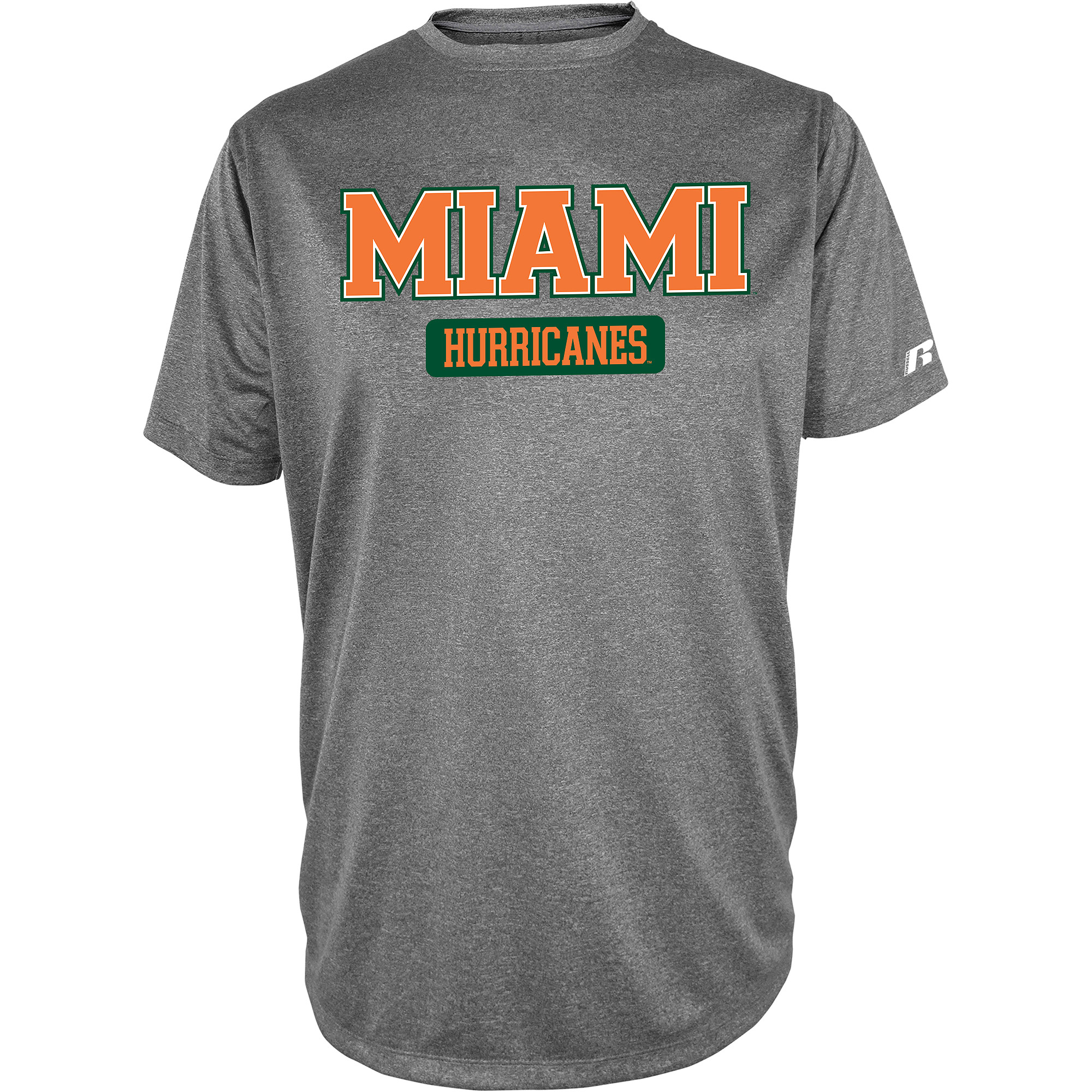Russell NCAA  Miami Hurricanes, Men's Impact T-Shirt