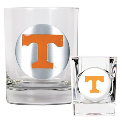 NCAA - Tennessee Volunteers Rocks Glass and Shot Glass Set