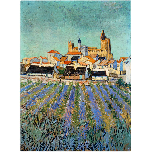 "Trademark Fine Art ""Saintes Maries de la Mer"" Canvas Art by Vincent van Gogh"
