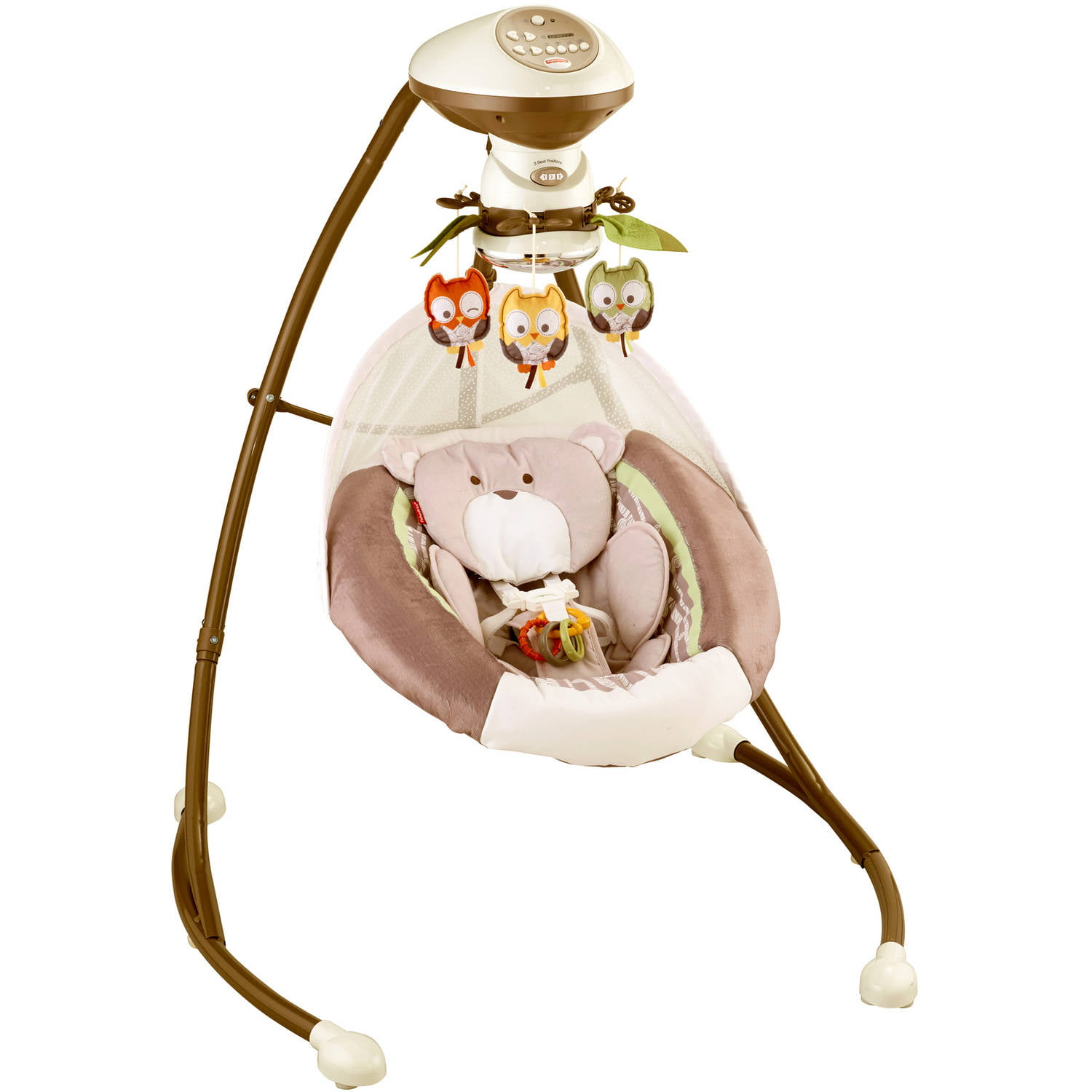 Fisher Price Cradle N Swing With 6 Speeds My Little Snugabear Walmart Com