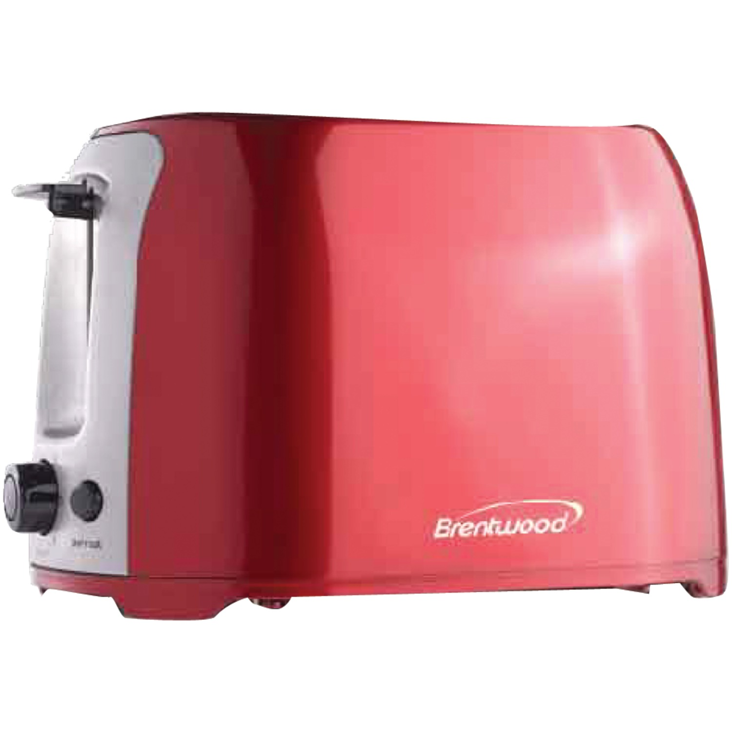 Brentwood Appliances TS-292R 2-slice Cool Touch Toaster (red & Stainless Steel)