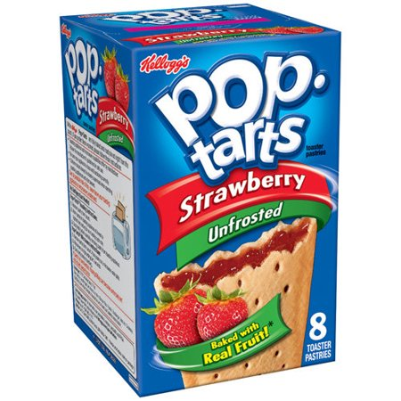Kellogg's Pop-Tarts Strawberry Unfrosted - 8 CT