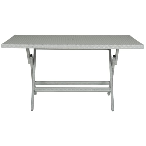 Safavieh PAT2003 Grey Dilettie Outdoor Rectangular Folding Dining Table