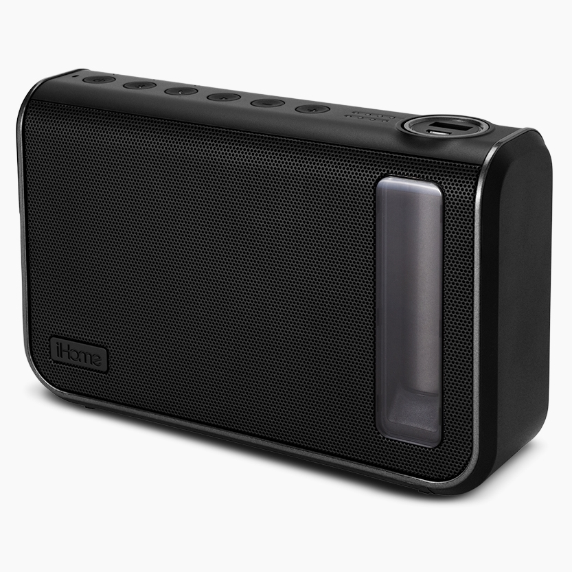 iHome 3.5mm Jack Rechargeable Portable Universal Mini Speaker Black - IKN100BC (Factory Refurbished)