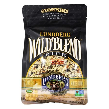 (3 Pack) Lundberg Family Farms® Gourmet Blends Wild Blend Rice 16 oz. Stand-Up Bag