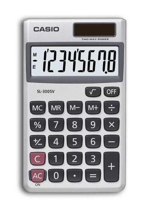 Casio SL-300SV 8 Digit Wallet Size Calculator by CASIO-COMPUTER