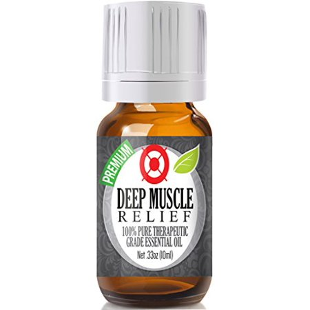 Deep Tissue Oil - Healing Solutions - Deep Muscle Relief Oil (10ml) 100% Pure, Best Therapeutic Grade Essential Oil - 10ml
